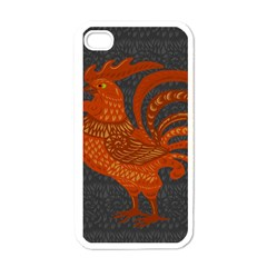 Chicken year Apple iPhone 4 Case (White)