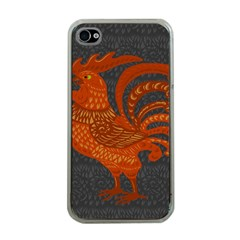 Chicken year Apple iPhone 4 Case (Clear)