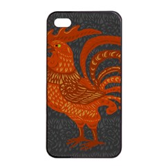 Chicken year Apple iPhone 4/4s Seamless Case (Black)