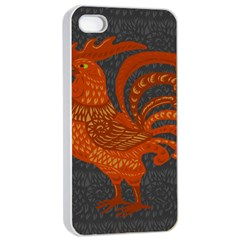 Chicken year Apple iPhone 4/4s Seamless Case (White)