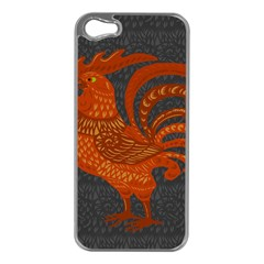 Chicken year Apple iPhone 5 Case (Silver)