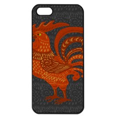 Chicken year Apple iPhone 5 Seamless Case (Black)