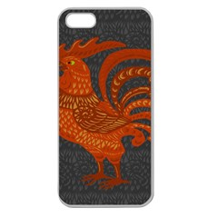 Chicken year Apple Seamless iPhone 5 Case (Clear)