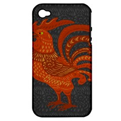 Chicken year Apple iPhone 4/4S Hardshell Case (PC+Silicone)