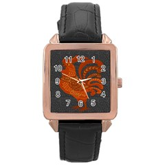 Chicken year Rose Gold Leather Watch