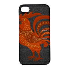 Chicken year Apple iPhone 4/4S Hardshell Case with Stand