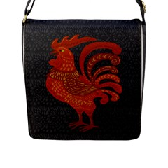 Chicken year Flap Messenger Bag (L)