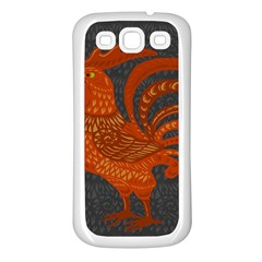 Chicken year Samsung Galaxy S3 Back Case (White)