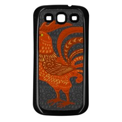 Chicken year Samsung Galaxy S3 Back Case (Black)