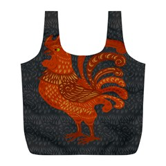 Chicken year Full Print Recycle Bags (L)