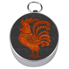 Chicken year Silver Compasses