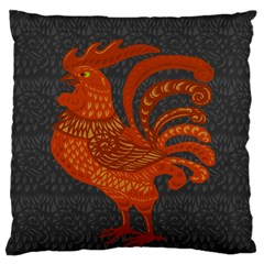 Chicken year Large Flano Cushion Case (One Side)