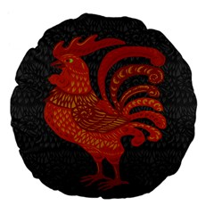 Chicken year Large 18  Premium Flano Round Cushions