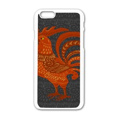 Chicken year Apple iPhone 6/6S White Enamel Case