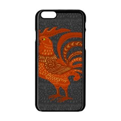 Chicken year Apple iPhone 6/6S Black Enamel Case