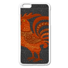Chicken year Apple iPhone 6 Plus/6S Plus Enamel White Case