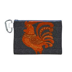 Chicken year Canvas Cosmetic Bag (M)
