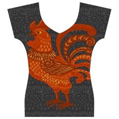 Chicken year Women s V-Neck Cap Sleeve Top