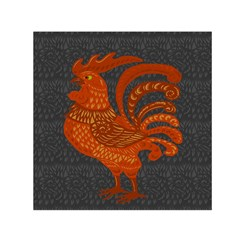 Chicken year Small Satin Scarf (Square)