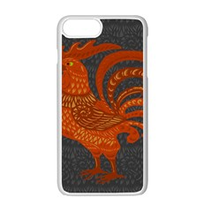 Chicken year Apple iPhone 7 Plus White Seamless Case