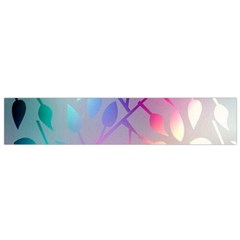 Colorful leaves Flano Scarf (Small)
