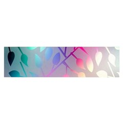 Colorful leaves Satin Scarf (Oblong)