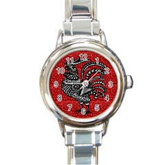 Year of the Rooster Round Italian Charm Watch