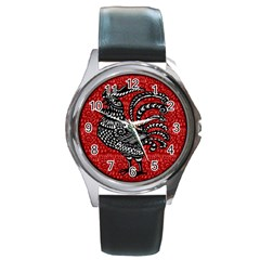 Year of the Rooster Round Metal Watch