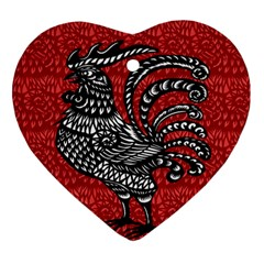 Year of the Rooster Ornament (Heart)