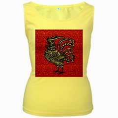 Year of the Rooster Women s Yellow Tank Top