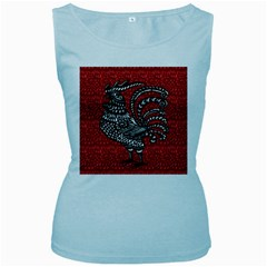 Year of the Rooster Women s Baby Blue Tank Top