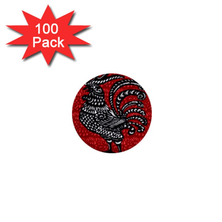 Year of the Rooster 1  Mini Buttons (100 pack)