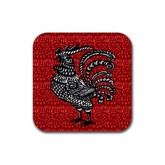 Year of the Rooster Rubber Coaster (Square)