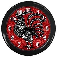 Year of the Rooster Wall Clocks (Black)