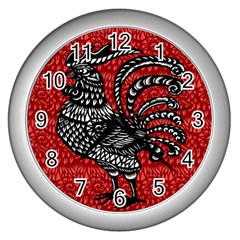Year of the Rooster Wall Clocks (Silver)