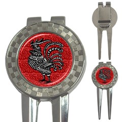 Year of the Rooster 3-in-1 Golf Divots