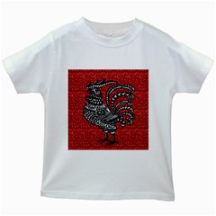 Year of the Rooster Kids White T-Shirts