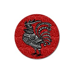 Year of the Rooster Magnet 3  (Round)