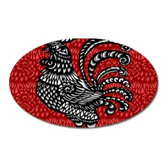 Year of the Rooster Oval Magnet