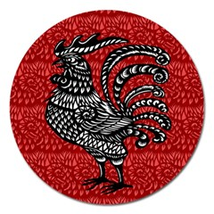 Year of the Rooster Magnet 5  (Round)