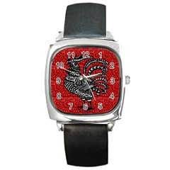 Year of the Rooster Square Metal Watch