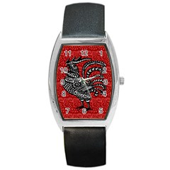 Year of the Rooster Barrel Style Metal Watch