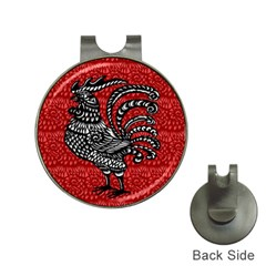 Year of the Rooster Hat Clips with Golf Markers