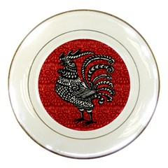 Year of the Rooster Porcelain Plates