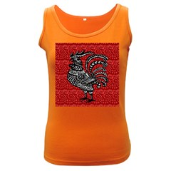 Year of the Rooster Women s Dark Tank Top