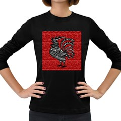 Year of the Rooster Women s Long Sleeve Dark T-Shirts