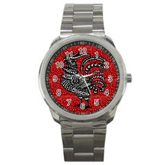 Year of the Rooster Sport Metal Watch