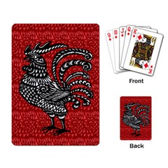 Year of the Rooster Playing Card