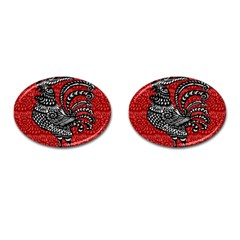 Year of the Rooster Cufflinks (Oval)
