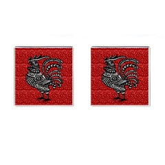 Year of the Rooster Cufflinks (Square)